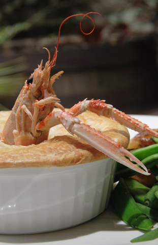 Crawfish and Rabbit Pie (photo from The White Horse)